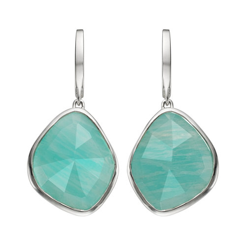 Siren Large Nugget Earrings - Amazonite - Monica Vinader