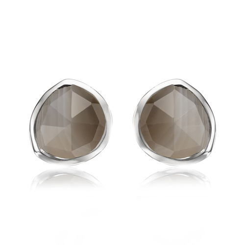 Siren Stud Earrings - Grey Agate - Monica Vinader