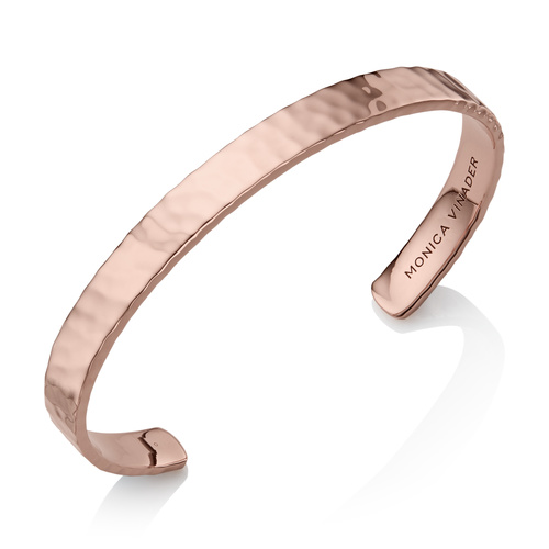 Rose Gold Vermeil Alta Rectangle Cuff - Rose Gold - Monica Vinader