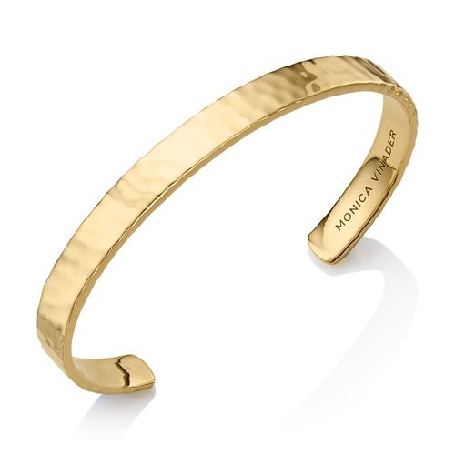 Gold Vermeil Alta Rectangle Cuff - Gold - Monica Vinader