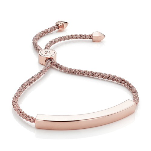 Rose Gold Vermeil Linear Large Friendship Bracelet - Women's - Rose Gold - Monica Vinader