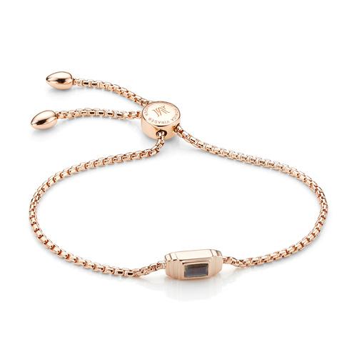Rose Gold Vermeil Baja Deco Bracelet - Labradorite - Monica Vinader