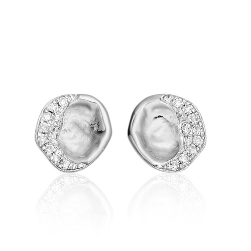 Riva Diamond Shore Stud Earring - Diamond - Monica Vinader