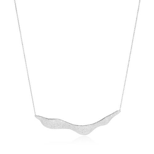 Riva Diamond Hero Wave Necklace - Diamond - Monica Vinader