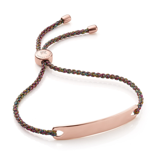 Rose Gold Vermeil Havana Friendship Bracelet - Rainbow Metallica - Monica Vinader