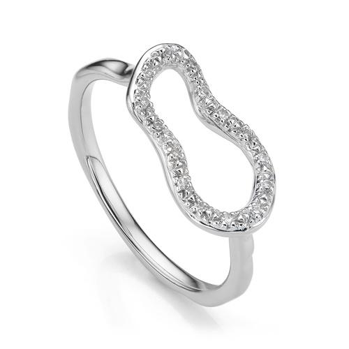 Riva Mini Pod Ring - Diamond - Monica Vinader
