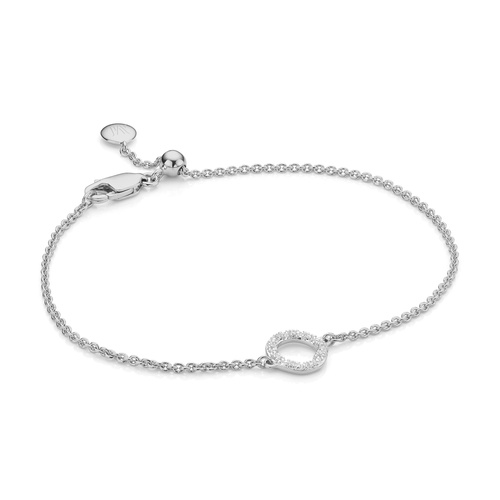 Riva Mini Circle Bracelet - Diamond - Monica Vinader