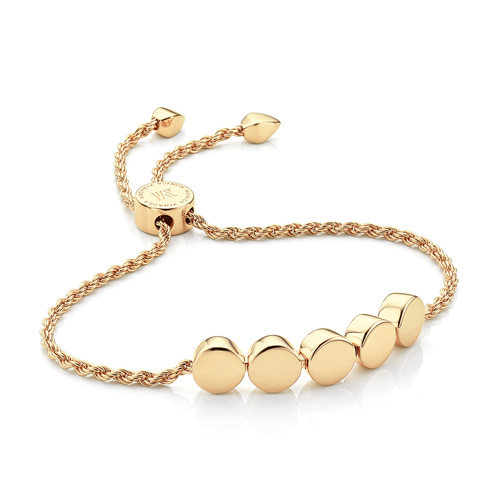 Gold Vermeil Linear Bead Friendship Chain Bracelet - Monica Vinader