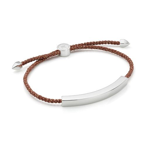 Linear Large Men's Friendship Bracelet - Rust Metallica - Monica Vinader
