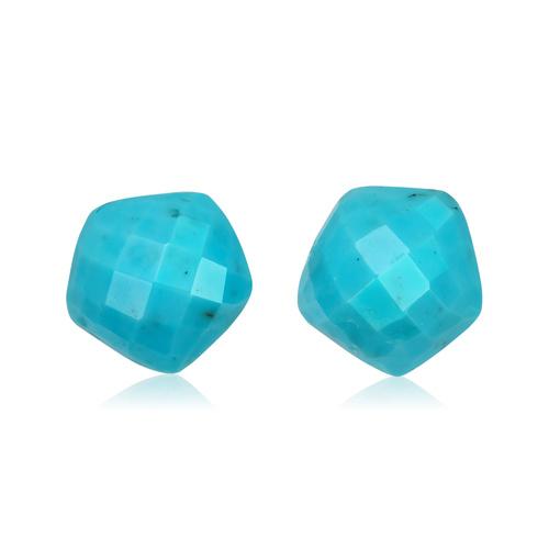 Rose Gold Vermeil Nura Nugget Stud Earrings - Turquoise - Monica Vinader