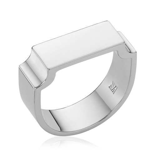 Signature Wide Ring - Silver - Monica Vinader