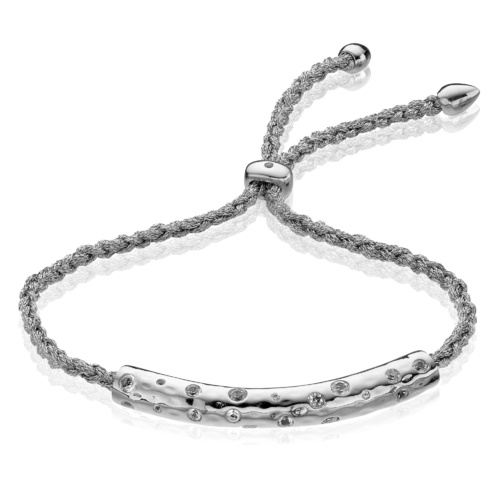 Esencia Scatter Friendship Bracelet - Strength - White Topaz - Monica Vinader