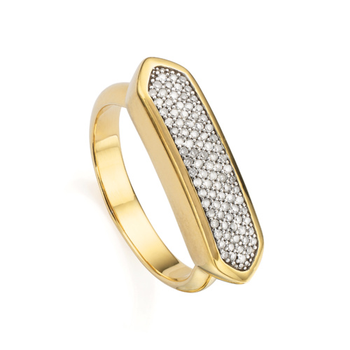 Gold Vermeil Baja Diamond Ring - Diamond - Monica Vinader