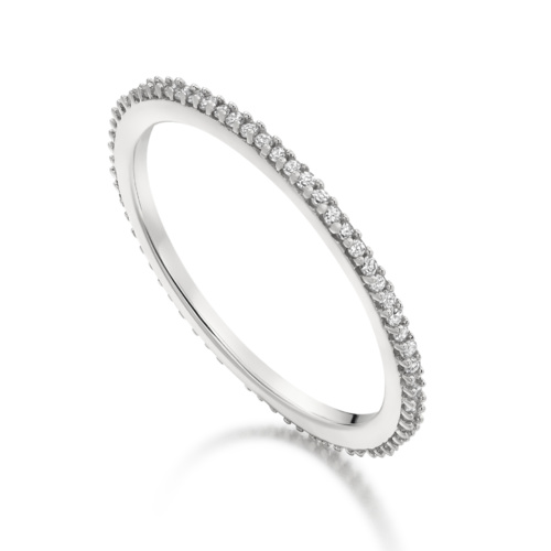 Skinny Eternity Ring - Diamond - Monica Vinader