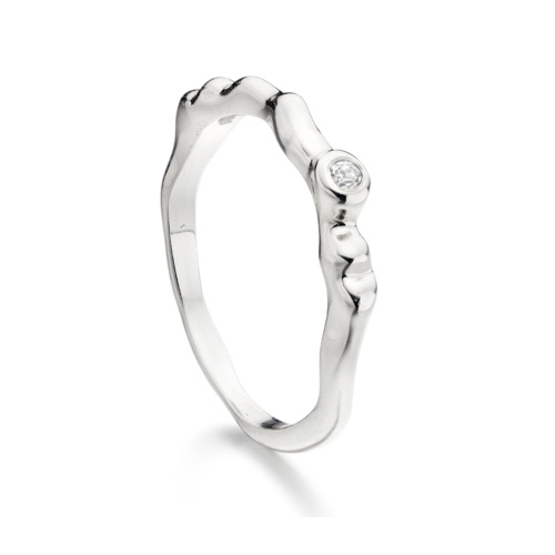 Siren Band - White Topaz - Monica Vinader