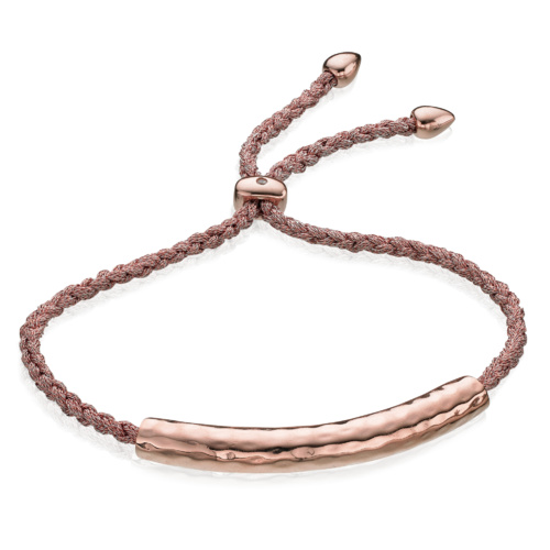 Rose Gold Vermeil Esencia Friendship Bracelet - White Topaz - Monica Vinader
