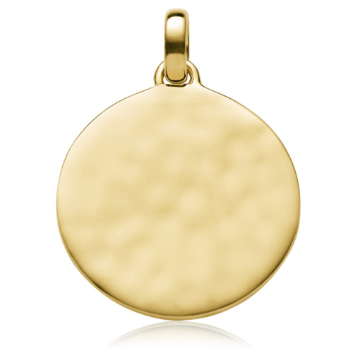 Gold Vermeil Siren Medium Round Pendant - Gold - Monica Vinader