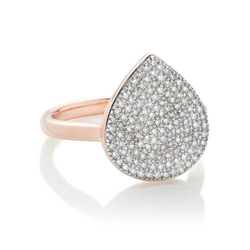 Rose Gold Vermeil Alma Diamond Ring