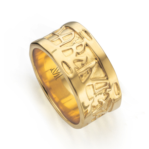 Gold Vermeil Atlantis Wide Band Ring