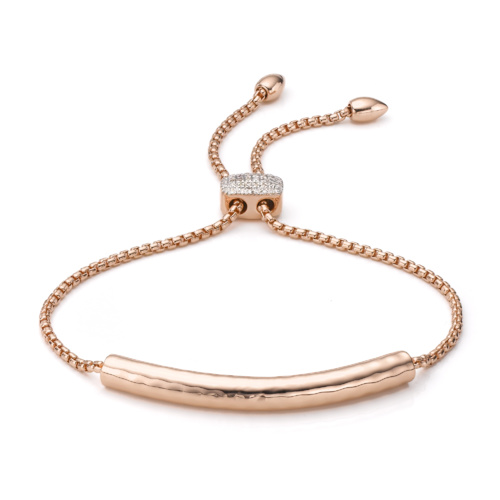 Rose Gold Vermeil Esencia Diamond Toggle Bracelet - Diamond - Monica Vinader