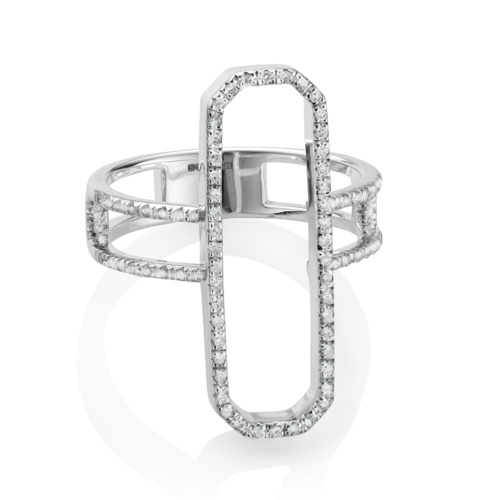 Naida Cocktail Ring - Diamonds