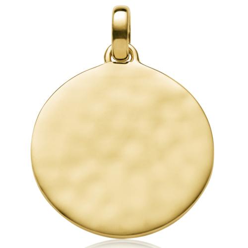 Gold Vermeil Siren Round Pendant - Monica Vinader