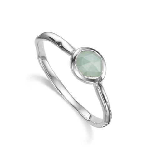 Siren Small Stacking Ring - Aquamarine