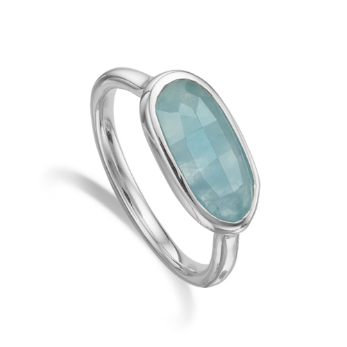 Vega Ring - Aquamarine - Monica Vinader