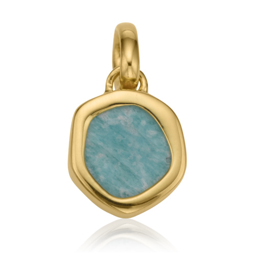 Gold Vermeil Atlantis Gem Mini Pendant - Amazonite