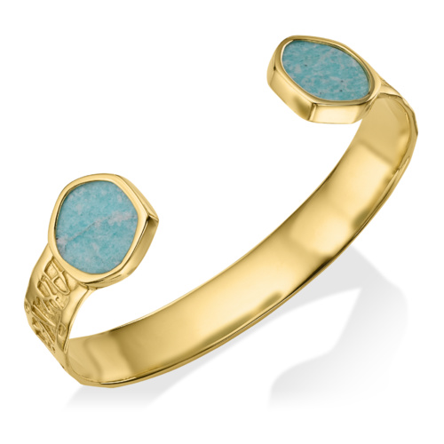 Gold Vermeil Atlantis Cuff - Amazonite 1