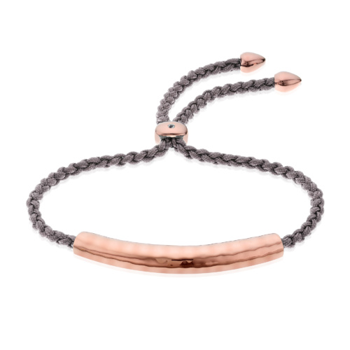 Rose Gold Vermeil Esencia Friendship Bracelet - Smoky Quartz - Monica Vinader