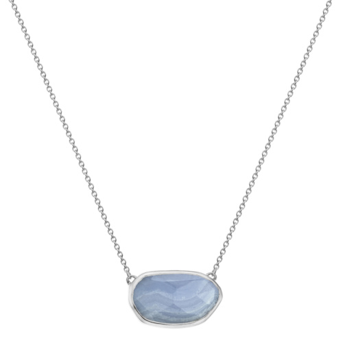 Capri Necklace - Blue Lace Agate