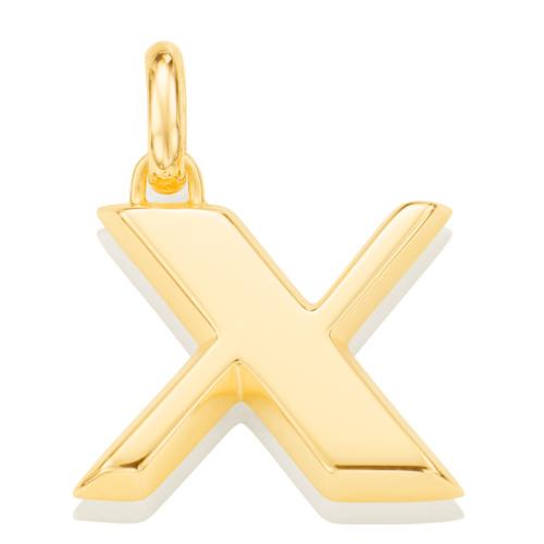 Gold Vermeil Alphabet Pendant X