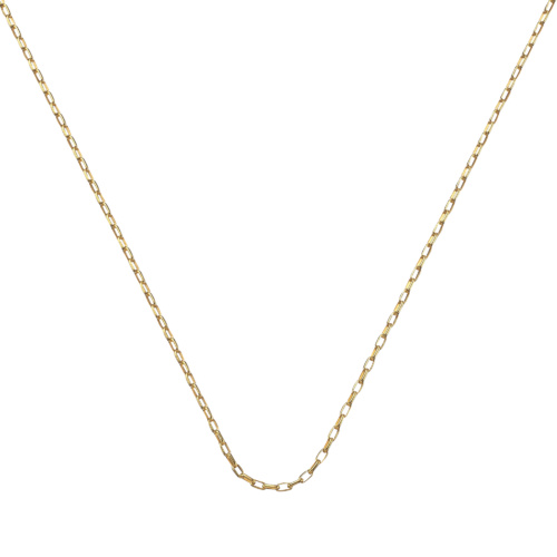 Gold Vermeil Fine Open Link Chain - 20