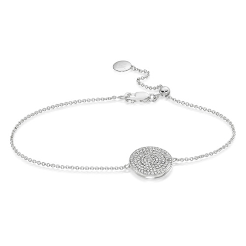 Ava Disc Bracelet - Diamond - Monica Vinader