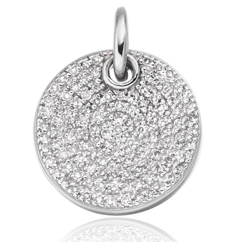 Ava Disc Pendant - Diamond - Monica Vinader