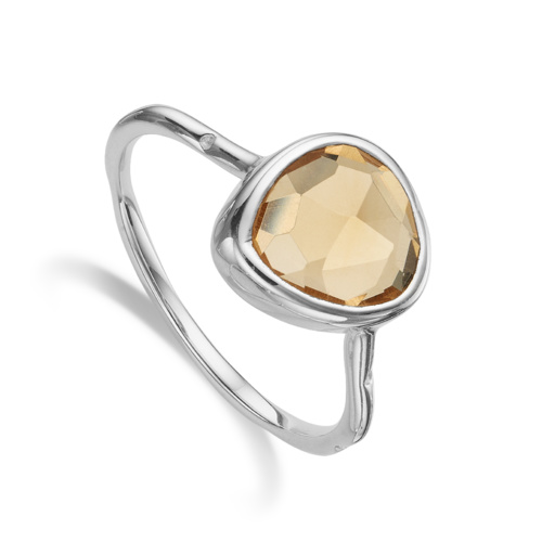 Siren Stacking Ring - Citrine