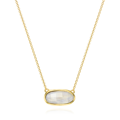 Gold Vermeil Vega Necklace - Moonstone