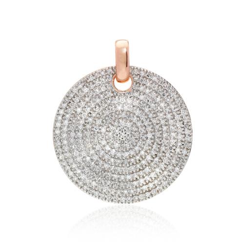 Rose Gold Vermeil Medium Ava Diamond Pendant - Diamond - Monica Vinader