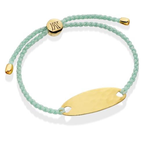 Gold Vermeil Bali Friendship Bracelet - Mint - Mint - Monica Vinader