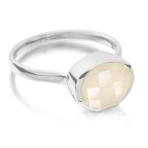 Candy Oval Ring - Moonstone - Monica Vinader