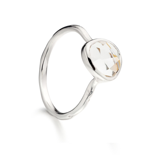 Siren Stacking Ring - White Topaz - Monica Vinader