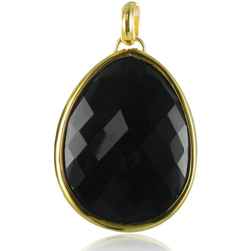 Gold Vermeil Nugget Zodiac Pendant - Black Onyx - Monica Vinader