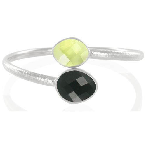 Slink Bracelet - Black Onyx - Monica Vinader