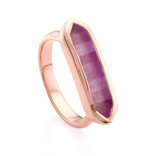 Rose Gold Vermeil Baja Ring - Purple Quartz
