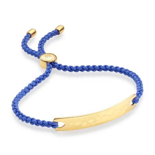 Gold Vermeil Havana Friendship Bracelet - Cornflower Blue