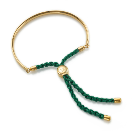 Gold Vermeil Fiji Friendship Bracelet - Racing Green
