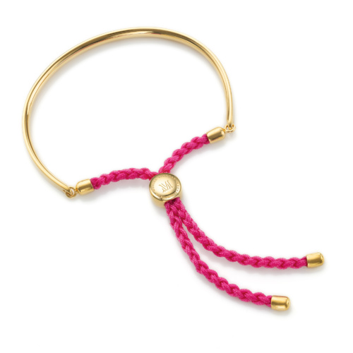 Gold Vermeil Fiji Friendship Bracelet - Cerise