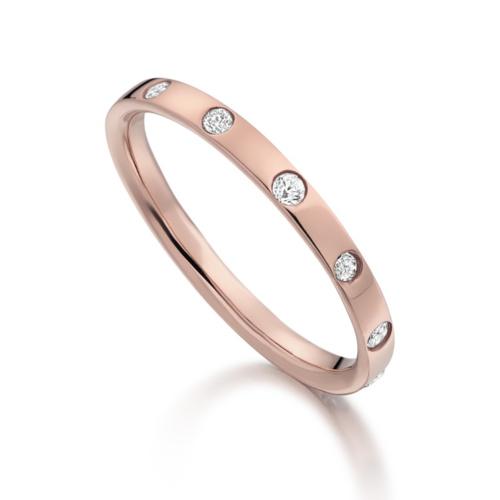 Rose Gold Vermeil Skinny Crown Ring - Diamond - Monica Vinader