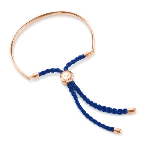Rose Gold Vermeil Fiji Friendship Petite Bracelet - Royal Blue